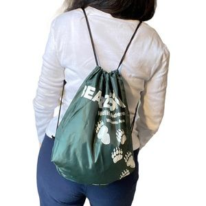 NWOT BEARIZONA Green string backpack